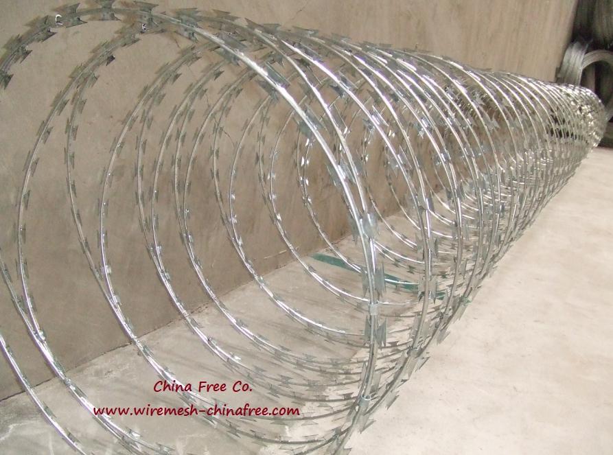 Concertina Razor Wire Razor Wire Coil Flat Razor Wire